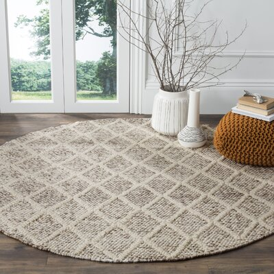 Billie Hand-Tufted Ivory/Stone Area Rug Rug Size: Rectangle 2' x 3'