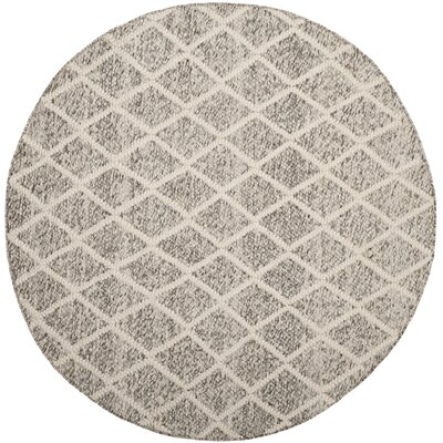 Billie Hand-Tufted Ivory/Stone Area Rug Rug Size: 5 x 8
