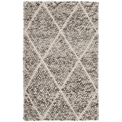 Billie Hand-Tufted Ivory/Stone Area Rug Rug Size: Rectangle 4 x 6