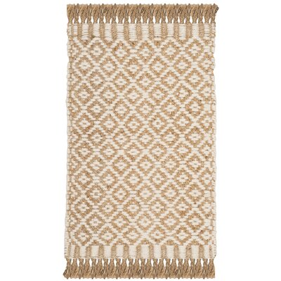 Nicholson Fiber Hand-Woven Natural/Ivory Area Rug Rug Size: Rectangle 3 x 5