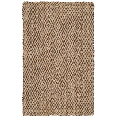Oakdale Fiber Hand-Woven Natural/Brown Area Rug Rug Size: Rectangle 6 x 9