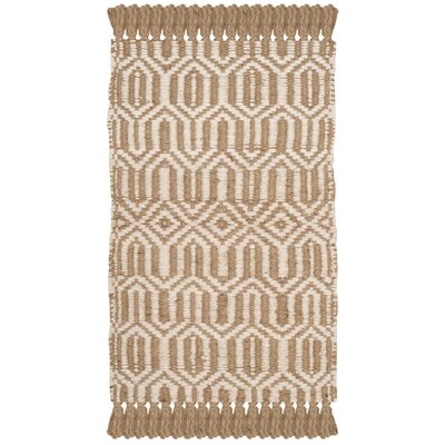 Oakland Fiber Hand-Woven Natural/Ivory Area Rug Rug Size: Rectangle 6 x 9