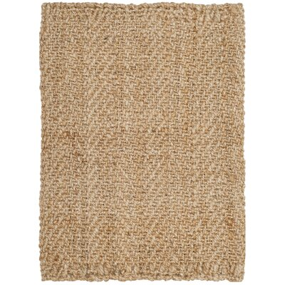 Claudette Fiber Hand-Woven Natural Area Rug Rug Size: Rectangle 4 x 6