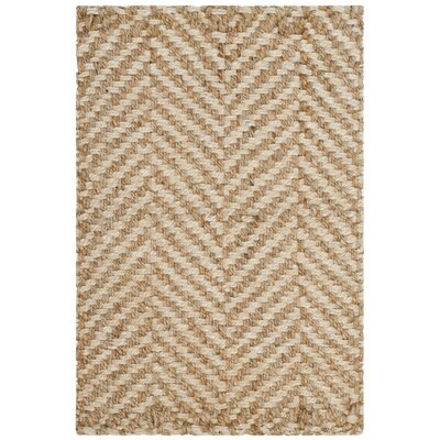 Ciel Fiber Hand-Woven Ivory/Natural Area Rug Rug Size: Rectangle 4 x 6