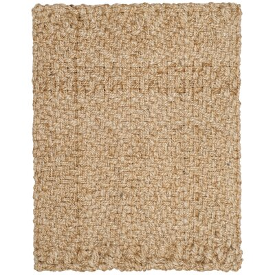 Clea Fiber Hand-Woven Natural Area Rug Rug Size: Rectangle 4 x 6