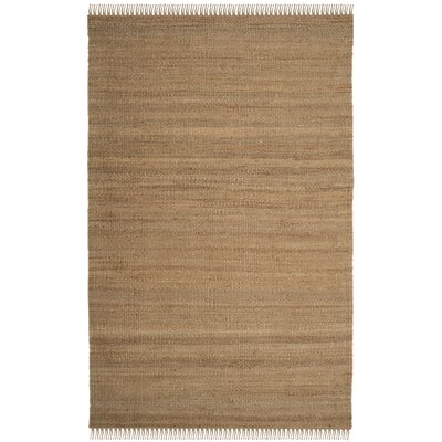 Orangeville Fiber Hand-Woven Natural Area Rug Rug Size: Rectangle 5 x 8