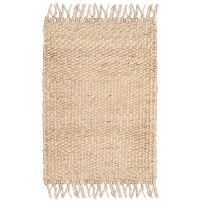 Lookout Fiber Hand-Woven Ivory Area Rug Rug Size: Rectangle 5 x 8