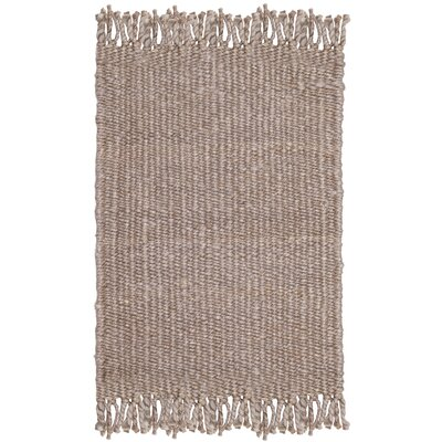 Lookout Fiber Hand-Woven Gray Area Rug Rug Size: Rectangle 8 x 10