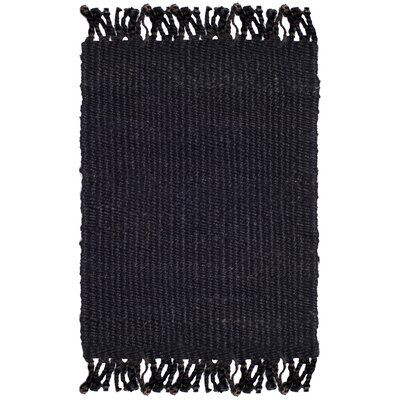 Lookout Fiber Hand-Woven Black Area Rug Rug Size: Rectangle 8 x 10