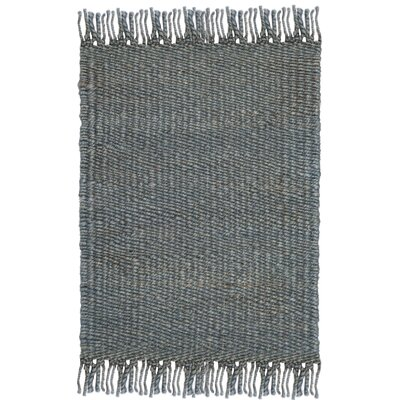 Lookout Fiber Hand-Woven Blue Area Rug Rug Size: Rectangle 8 x 10