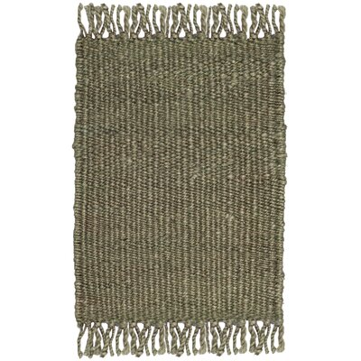 Lookout Fiber Hand-Woven Green Area Rug Rug Size: Rectangle 8 x 10