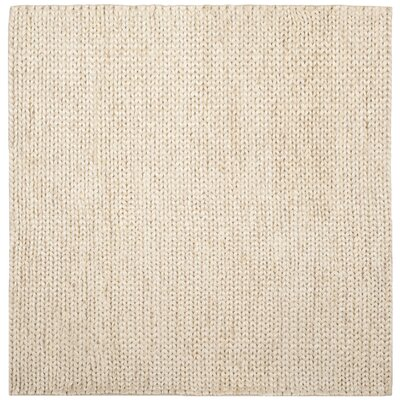 Pennsburg Fiber Hand-Woven Ivory Area Rug Rug Size: Square 6