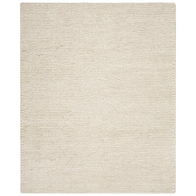 Pennsburg Fiber Hand-Woven Ivory Area Rug Rug Size: Rectangle 6 x 9