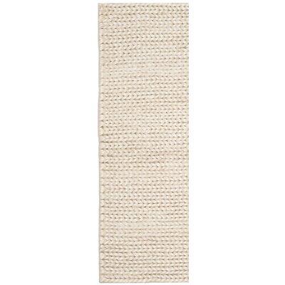 Lissa Fiber Hand-Woven Ivory Area Rug Rug Size: Runner 23 x 8