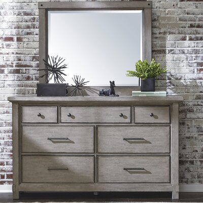 Tarentum 7 Drawer Double Dresser with Mirror