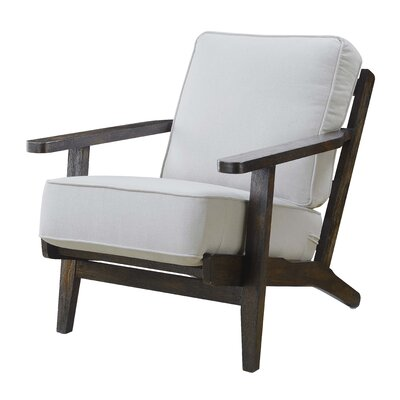 Lora Accent Arm Chair Upholstery: Midtown Onyx, Finish: Espresso