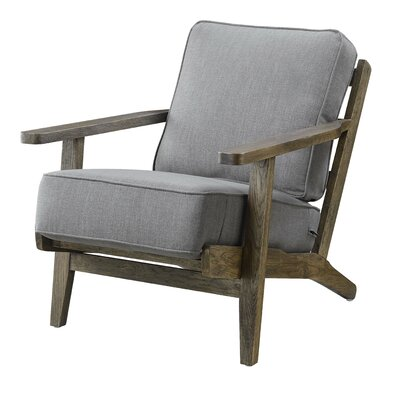 Lora Accent Armchair Upholstery: Taupe, Finish: Antique