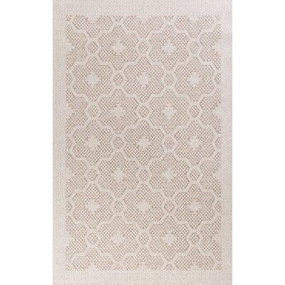 Paramus Mosaic Beige Indoor/Outdoor Area Rug Rug Size: 5 x 77
