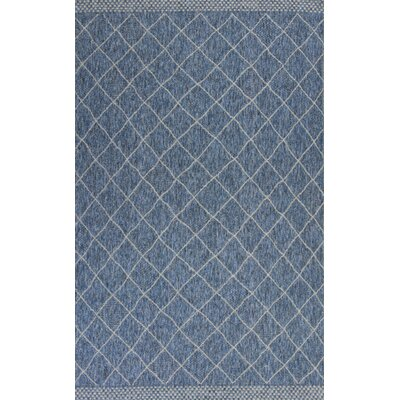 Loren Rustico Blue Indoor/Outdoor Area Rug Rug Size: 33 x 411