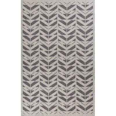 Paramus Gray Chevron Indoor/Outdoor Area Rug Rug Size: 5' x 7'7