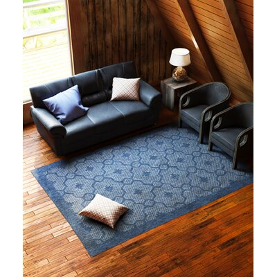 Paramus Mosaic Blue Indoor/Outdoor Area Rug Rug Size: 5 x 77