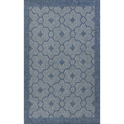 Paramus Mosaic Blue Indoor/Outdoor Area Rug Rug Size: 3'3