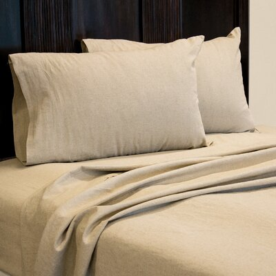 Aguirre 4 Piece Sheet Set Size: California King, Color: Natural
