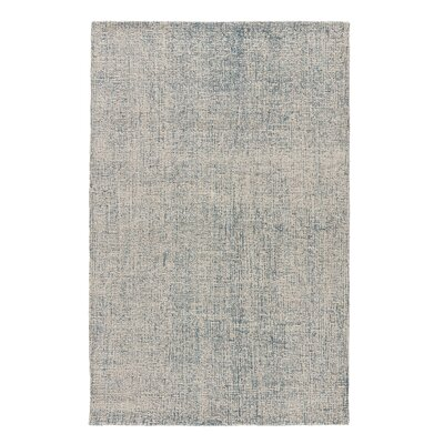 California Bay Hand-Woven Wool Ivory/Blue Area Rug Rug Size: Rectangle 5 x 8
