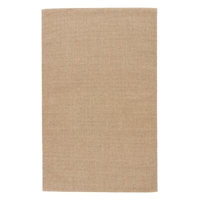 Alaska Beige Solid Area Rug Rug Size: Rectangle 3 x 5
