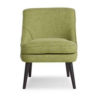 Donnellson Upholstered Dining Chair Upholstery: Green