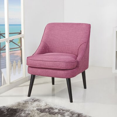 Donnellson Upholstered Accent Chair Upholstery: Rose