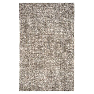 Marsh Hand-Tufted Wool Brown Area Rug Rug Size: Rectangle 5 x 8