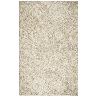 Marsh Hand-Tufted Brown Area Rug Rug Size: Rectangle 5' x 8'