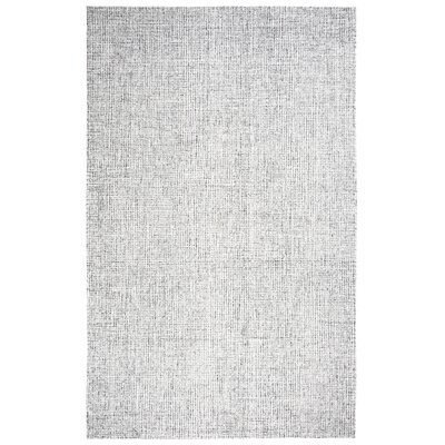 Marsh Hand-Tufted 100% Wool Gray Area Rug Rug Size: Round 8
