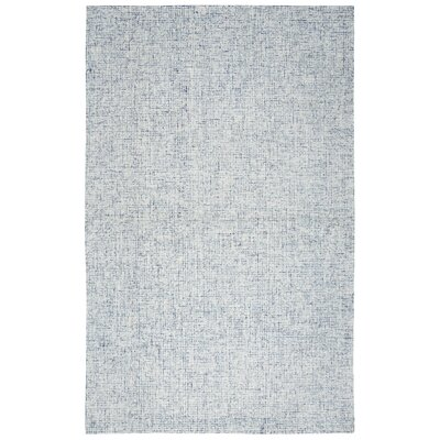 Marsh Hand-Tufted Wool Blue Area Rug Rug Size: Round 8