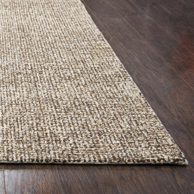 Marsh Hand-Tufted Wool Brown Area Rug Rug Size: Round 8