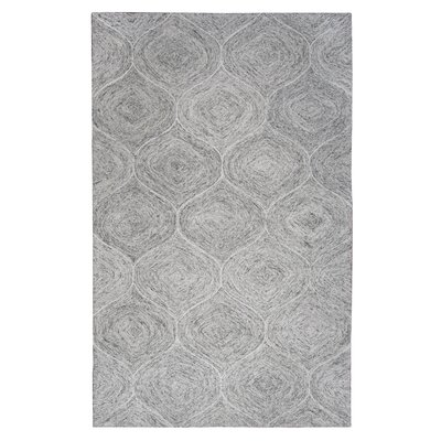 Marsh Hand-Tufted Gray Area Rug Rug Size: 5 x 8
