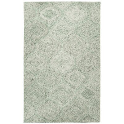 Marsh Hand-Tufted Green Area Rug Rug Size: 5 x 8