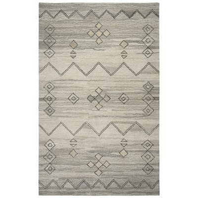 Bowdoin Hand-Tufted Gray Area Rug Rug Size: Rectangle 5 x 8
