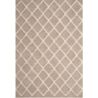 Muncy Beige/Cream Area Rug Rug Size: Rectangle 51 x 76