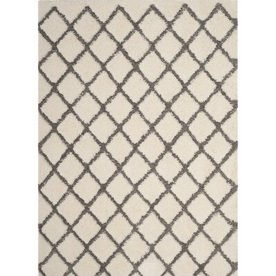 Muncy Cream/Gray Area Rug Rug Size: Round 67 x 67