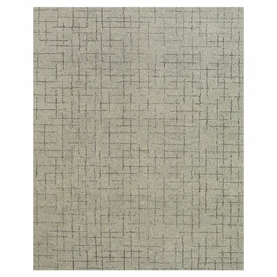 Haley Hand-Tufted Ash Area Rug Rug Size: 36 x 56