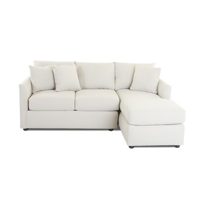 Waller Sectional Upholstery: Conversation Ivory, Orientation: Right Hand Facing