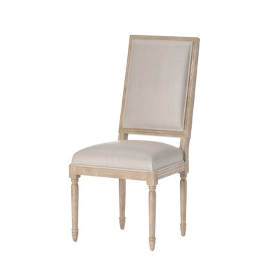 Haddonfield Solid Wood Dining Chair Upholstery: Beige