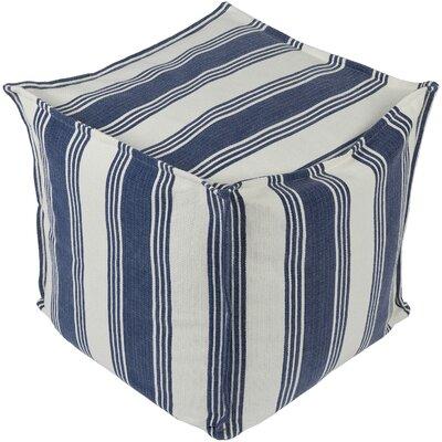 Rhoda Pouf Ottoman Upholstery: Tan/Navy
