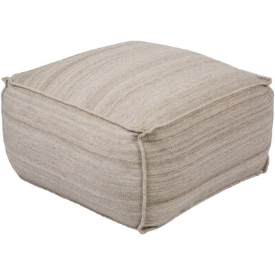 Rhonda Pouf Ottoman Upholstery: Off-White/Khaki