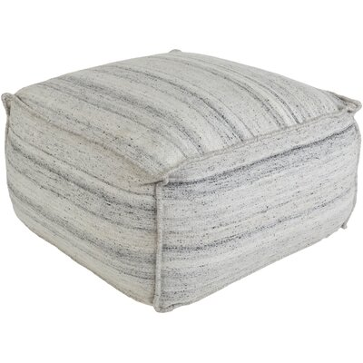 Rhonda Pouf Upholstery: Off-White/Gray