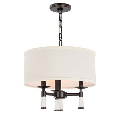 Richey 3-Light Drum Chandelier Finish: Oil Rubbed Bronze