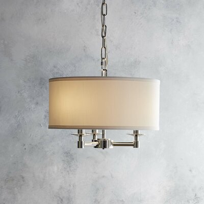 Richey 3-Light Drum Chandelier Finish: Polished Nickel