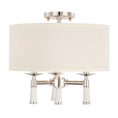 Indimar 3-Light Semi Flush Mount Finish: Polished Nickel